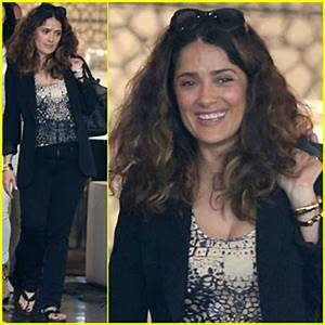 salma hayek says the only place she can indulge is in the With salma hayek bathroom