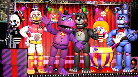 Five Nights At Freddy's 6 All Characters, All Animatronics