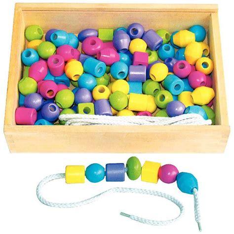 grosses perles en bois pastel 10 lacets bo 238 te de 130 sapin malin perles sur planet eveil
