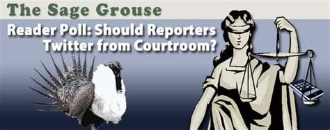 sage grouse poll  reporters twitter  courtroom