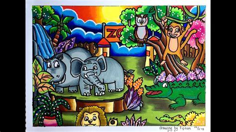 mewarnai kebun binatang