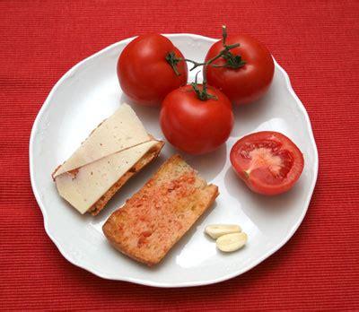 recette espagnole du pan tumaca pain avec tomate