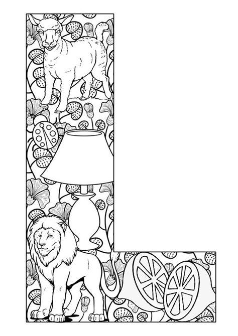Letter Kleurplaat by Letter L Kleurplaat