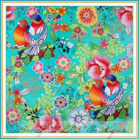 tropical bird fabric ebay
