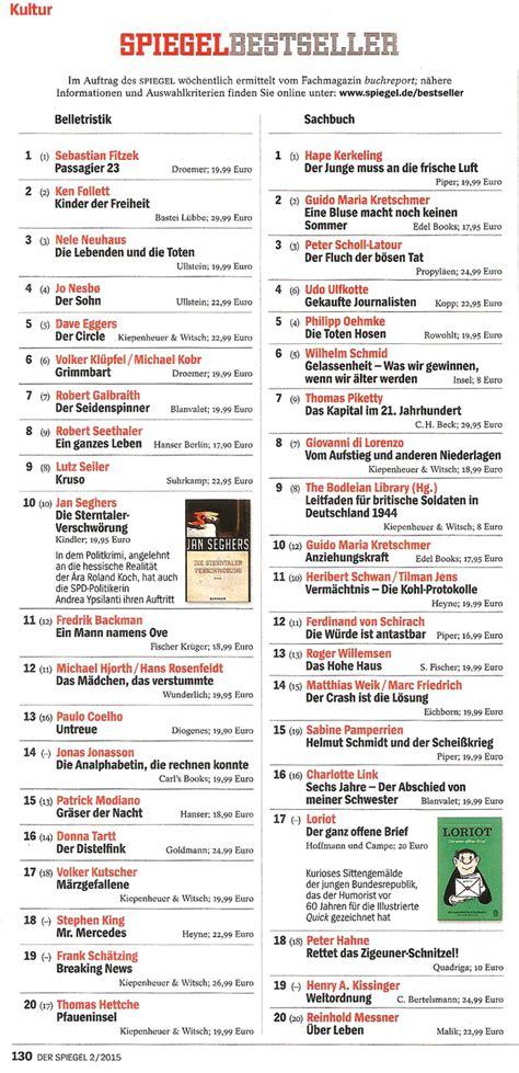 Spiegel Bestseller Nr 2  2015  Dr Heribert Schwan