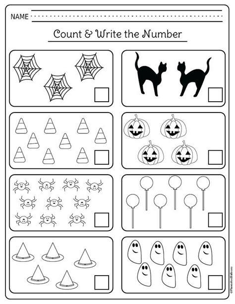 halloween kindergarten worksheets for math centers and