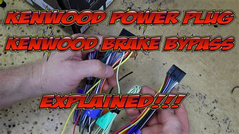 kenwood excelons wire harness colors  brake bypass