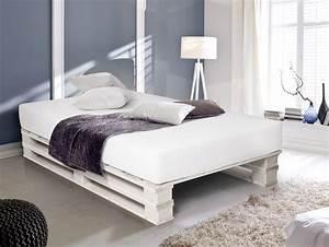 Doppelbett Selber Bauen Ideen : paletti duo weiss lackiert bett aus paletten 90 x 200 cm ~ Markanthonyermac.com Haus und Dekorationen
