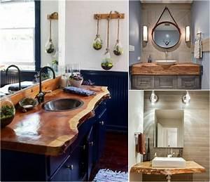Plan Vasque Bois Brut : plan de travail meuble salle de bain ~ Teatrodelosmanantiales.com Idées de Décoration