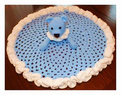 Blanket Pattern Crochet Security Bear Circle Granny