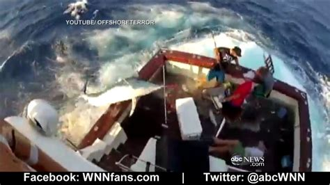 Marlin Jumps In Boat by Marlin Jumps In Boat