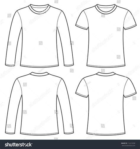 sleeve t shirt template longsleeved tshirt tshirt template stock vector 112215338