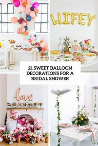 21 Sweet Balloon Decorations For A Bridal Shower - Shelterness