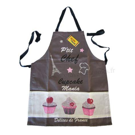 tablier de cuisine enfant cupcake p 39 chef gris