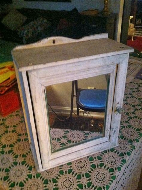 Stand Up Medicine Cabinet by Vintage Wood Medicine Cabinet W Mirror Shabby Chic Wall