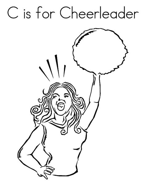 Full Cheerleading Stunt Coloring Pages