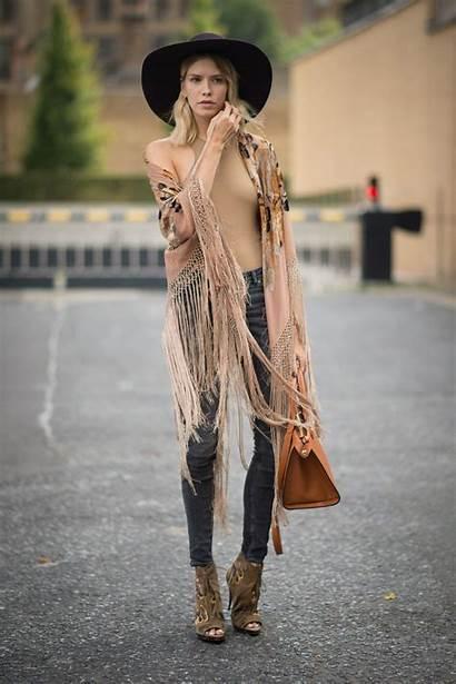 Bohemian Glamour Wear Fall London Looks Outfit