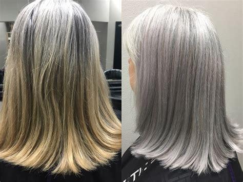 Matching Natural Silver Hair