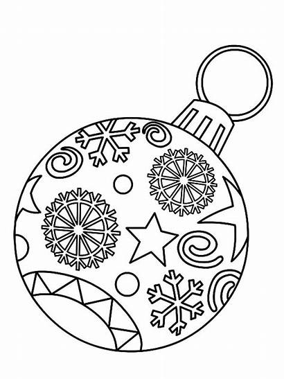 Ornament Christmas Drawing Coloring Pages Printable Getdrawings