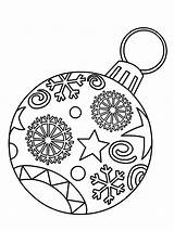 Coloring Christmas Ornament Pages Bulb Light Print sketch template
