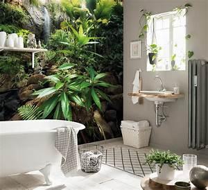 tendance deco un papier peint japonisant With salle de bain design avec décoration animaux de la jungle
