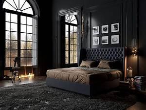 15, Elegant, And, Comfortable, Black, Bedroom, Designs, And, Decorations, For, Cool, Men, U0026, 39, S