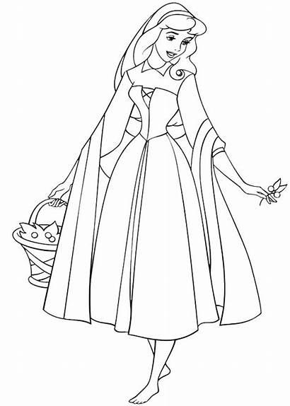 Coloring Aurora Sleeping Beauty Princess Wander Around