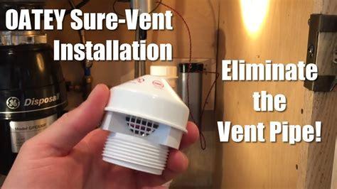 Kitchen Sink Air Admittance Valve. Rustic Air Admittance
