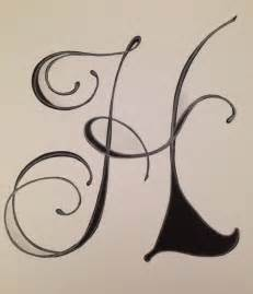 Calligraphy Letter H