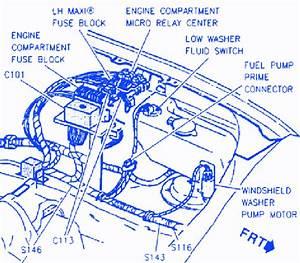 Cadillac Krystal 1994 Engine Compartment Electrical Circuit Wiring Diagram  U00bb Carfusebox