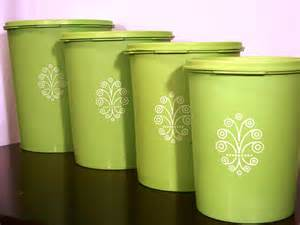 lime green kitchen canisters vintage lime green tupperware canister set of 4 by handaddysattic