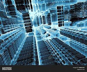 Technology abstract background - computer-generated image ...