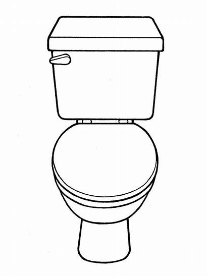 Toilet Coloring Drawing Pages Training Potty Printable