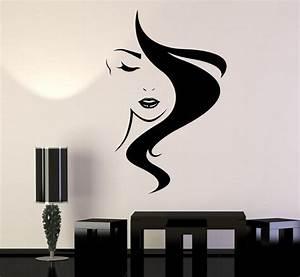 beauty hair vinyl wall decal salon studio girl hairdresser With wall vinyl decals
