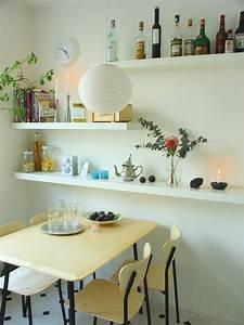 Küchen Wandregale : kleine k chen ideen f r die raumgestaltung ~ Pilothousefishingboats.com Haus und Dekorationen