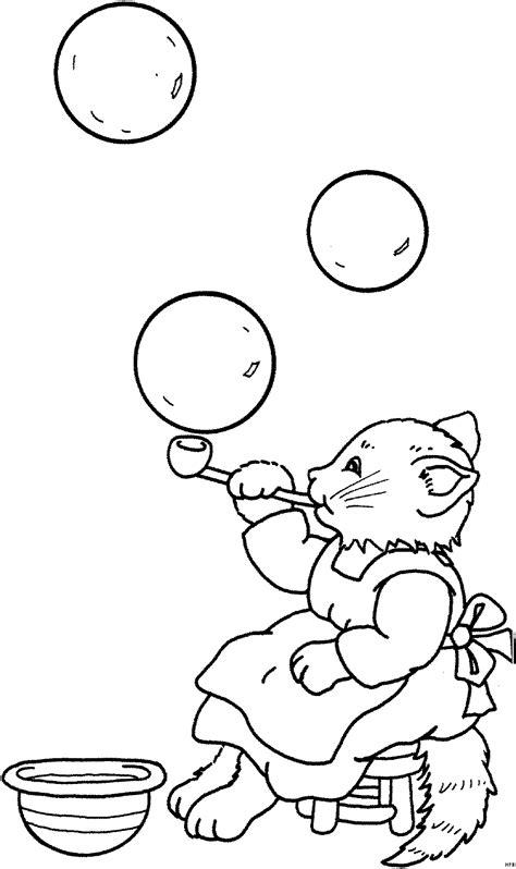 katze mit seifenblasen ausmalbild malvorlage tiere