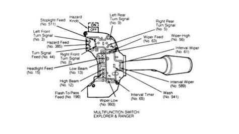 Ford Ranger Steering Column Switch Connnector Headli
