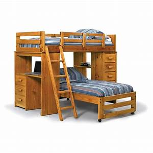 Kids bunk beds with desk and stairs bunk bed twin over for Kids bunk beds with desks