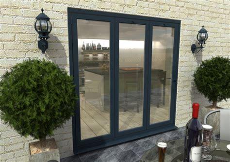 mm ft  door climadoor grey aluminium bi folding