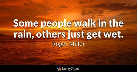 people walk   rain    wet roger