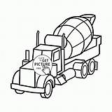 Coloring Mixer Cement Truck Pages Preschoolers Concrete Transportation Colouring Printable Printables Motorcars Wuppsy Duty Heavy Tags Topcoloringpages sketch template