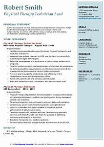 Patient Care Technician Resume Sample Physical Therapy Technician Resume Samples Qwikresume