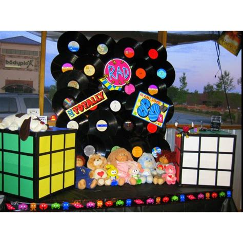 party theme    records childhood fav toys