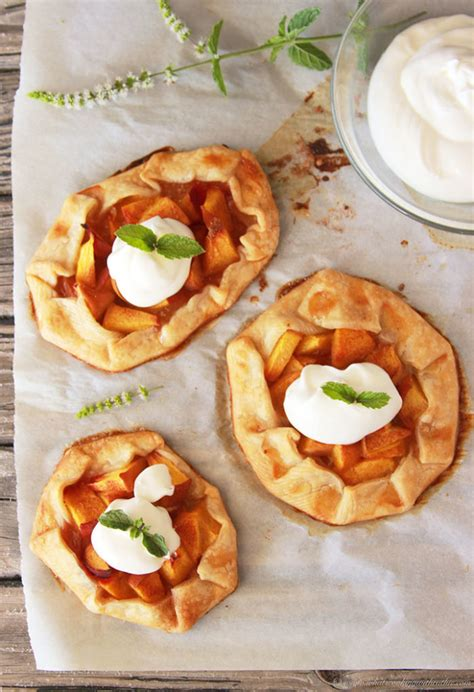 Mini Peach Galette Tutorial Cooking With Ruthie