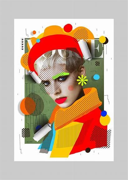 Collage Cheek Behance Magazine Magazines Project Illustration