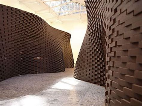 hand crafted  robots unbelievably curved brick walls