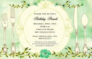 birthday brunch invitations birthday brunch invitations