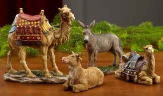 collectibles nativity sets gifts real life deluxe nativity animals