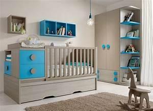 deco chambre bebe garcon gris et bleu With deco chambre de bebe garcon