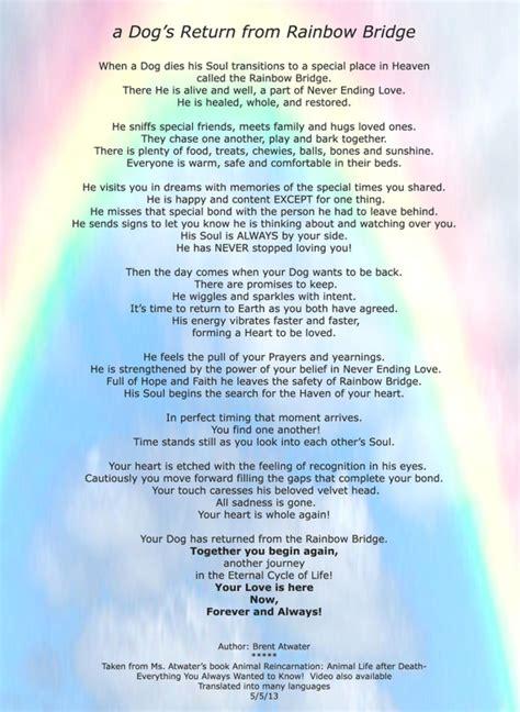 rainbow bridge unconditional love foundation
